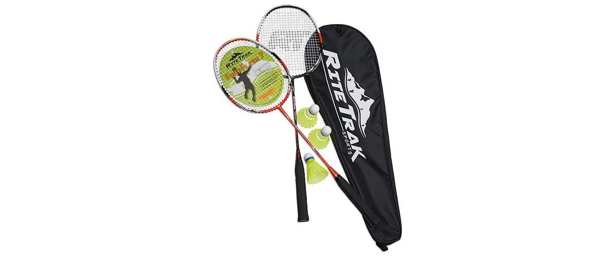 RiteTrak Sports FiberFlash 7 Badminton Racket Set