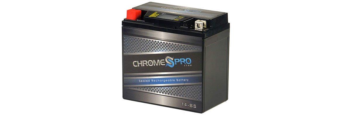 Chrome Battery YTX14-BS