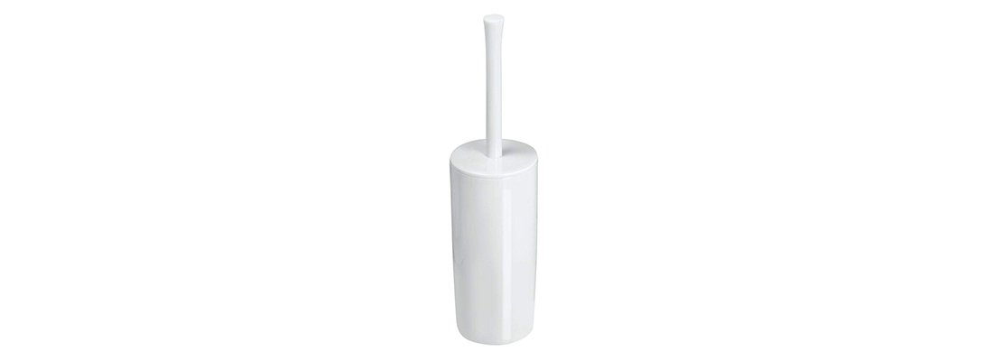mDesign Slim Compact Plastic Toilet Bowl Brush
